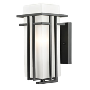 Abbey Outdoor Rubbed Bronze Outdoor Wall Light