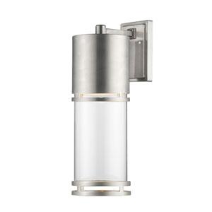 Luminata Brushed Aluminum 8.5-Inch One-Light Outdoor LED Wall Sconce