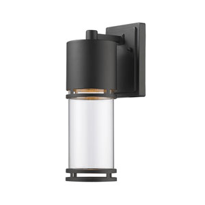 Luminata Black 6.5-Inch One-Light Outdoor LED Wall Sconce