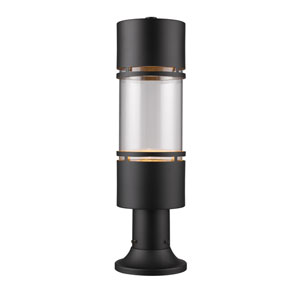 Luminata Black LED Outdoor LED Post Mount Light