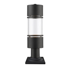 Luminata Black One-Light Outdoor LED Pier Mount