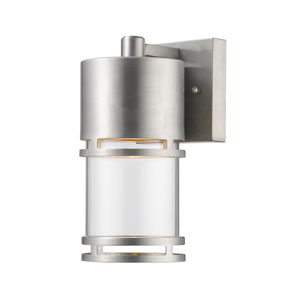 Luminata Brushed Aluminum 5.5-Inch One-Light Outdoor LED Wall Sconce