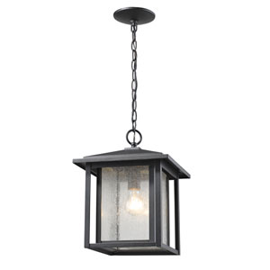 Aspen Black One-Light Outdoor Hanging Light