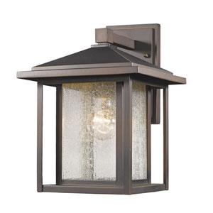 Aspen Oil Rubbed Bronze 10-Inch One-Light Outdoor Wall Light