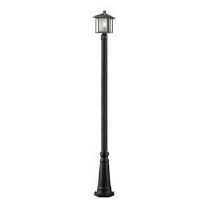 Aspen Black 10-Inch One-Light Outdoor Post Light