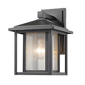Aspen Black 9-Inch One-Light Outdoor Wall Light
