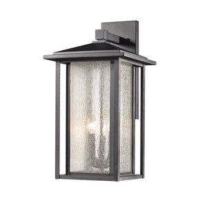 Aspen Black Three-Light Outdoor Wall Light