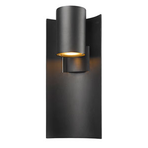Amador Black 9-Inch LED Outdoor Wall Light