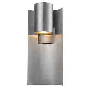 Amador Silver 9-Inch One-Light LED Outdoor Wall Light