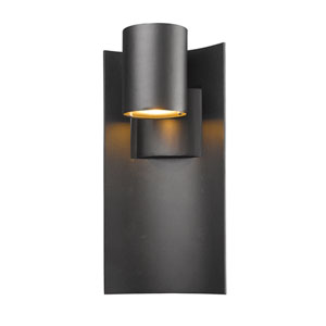 Amador Black 7-Inch One-Light LED Outdoor Wall Light