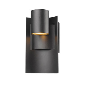 Amador Black 5-Inch One-Light LED Outdoor Wall Light