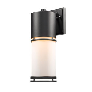 Luminata Black 18-Inch LED Outdoor Wall Mount