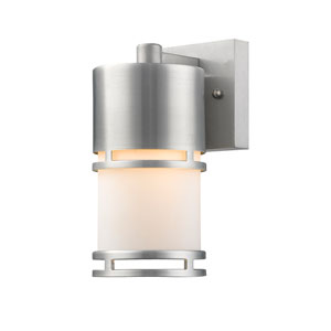 Luminata Brushed Aluminum 9-Inch LED Outdoor Wall Mount