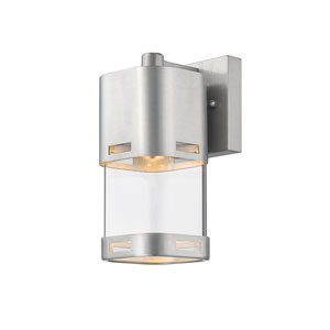 Lestat Brushed Aluminum 9-Inch LED Outdoor Wall Mount