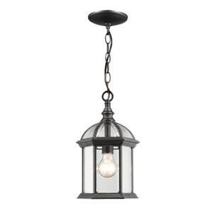 Annex Black One-Light  Outdoor Chain Hung Pendant