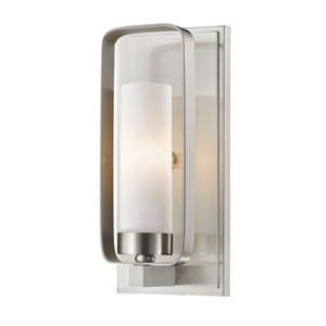Aideen Brushed Nickel 5-Inch One-Light Wall Sconce