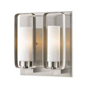 Aideen Brushed Nickel 9-Inch One-Light Wall Sconce