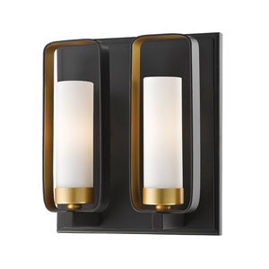 Aideen Bronze Gold Two-Light Wall Sconce