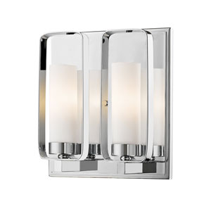 Aideen Chrome Two-Light Wall Sconce