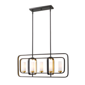 Aideen Bronze Gold Five-Light Linear Pendant