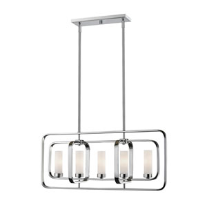 Aideen Chrome Five-Light Linear Pendant