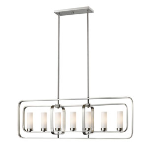 Aideen Brushed Nickel Seven-Light Linear Pendant