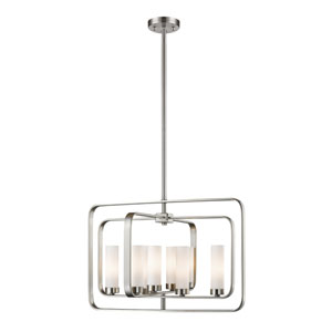 Aideen Brushed Nickel 24-Inch Eight-Light Pendant