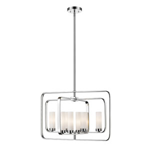 Aideen Chrome 24-Inch Eight-Light Pendant