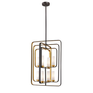 Aideen Bronze Gold 20-Inch Eight-Light Pendant