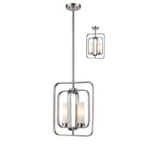 Aideen Brushed Nickel Two-Light Pendant