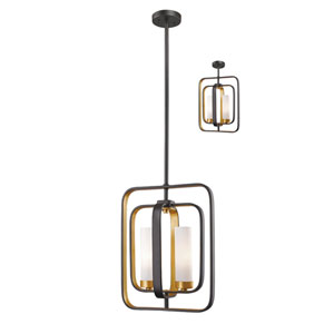 Aideen Bronze Gold Two-Light Pendant