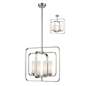 Aideen Brushed Nickel Four-Light Pendant