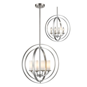 Ashling Brushed Nickel 20-Inch Four-Light Pendant