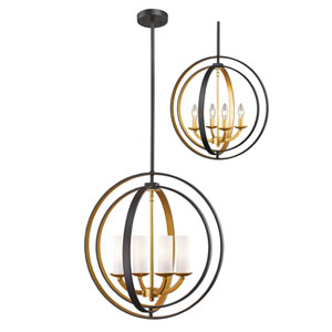 Ashling Bronze Gold 20-Inch Four-Light Pendant