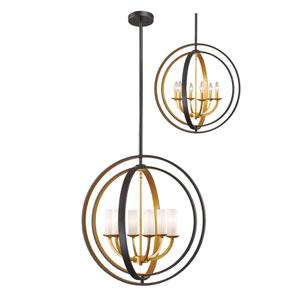 Ashling Bronze Gold Six-Light Pendant