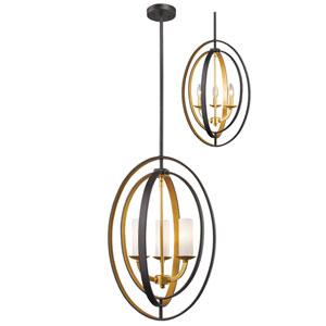 Ashling Bronze Gold Three-Light Pendant