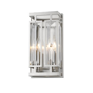 Mersesse Brushed Nickel 6-Inch Two-Light  Wall Sconce