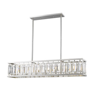 Mersesse Brushed Nickel 44-Inch Seven-Light  Island Pendant