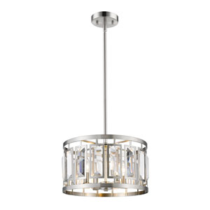 Mersesse Brushed Nickel 16-Inch Four-Light  Pendant