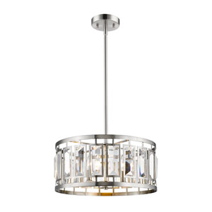 Mersesse Brushed Nickel 19-Inch Five-Light  Pendant
