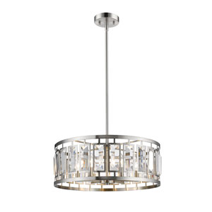 Mersesse Brushed Nickel 23-Inch Six-Light  Pendant