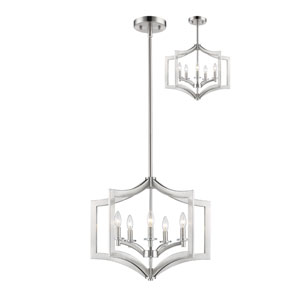 Zander Brushed Nickel Five-Light Pendant