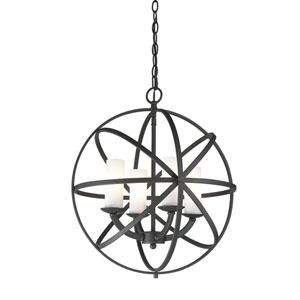 Aranya Bronze Four Light Pendant