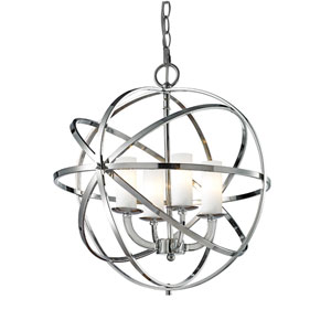 Aranya Chrome Four Light Pendant