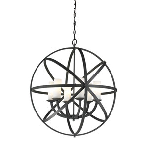 Aranya Bronze Six Light Pendant