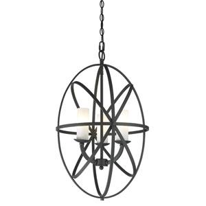 Aranya Bronze Three Light Pendant