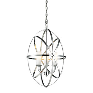 Aranya Chrome Three Light Pendant