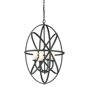 Aranya Bronze 29-Inch Four Light Pendant