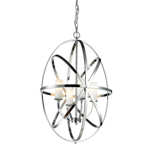 Aranya Chrome 29-Inch Four Light Pendant