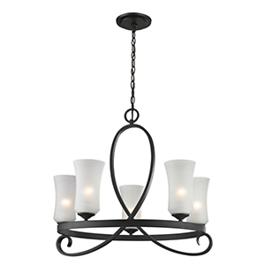 Arshe Bronze Five-Light Chandelier